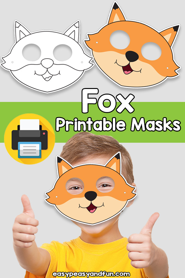 Printable Fox Mask Template