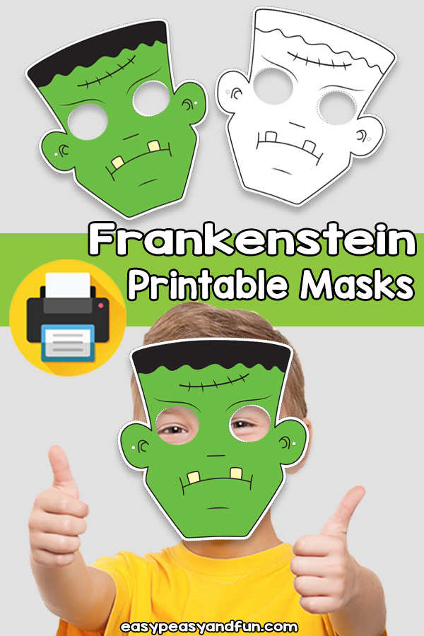 Printable Frankenstein Mask Template
