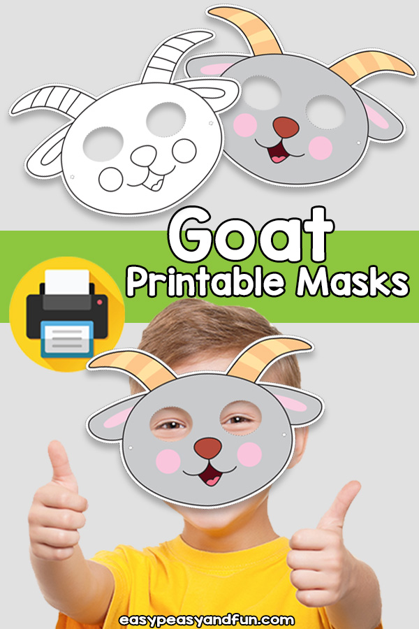Printable Goat Mask Template
