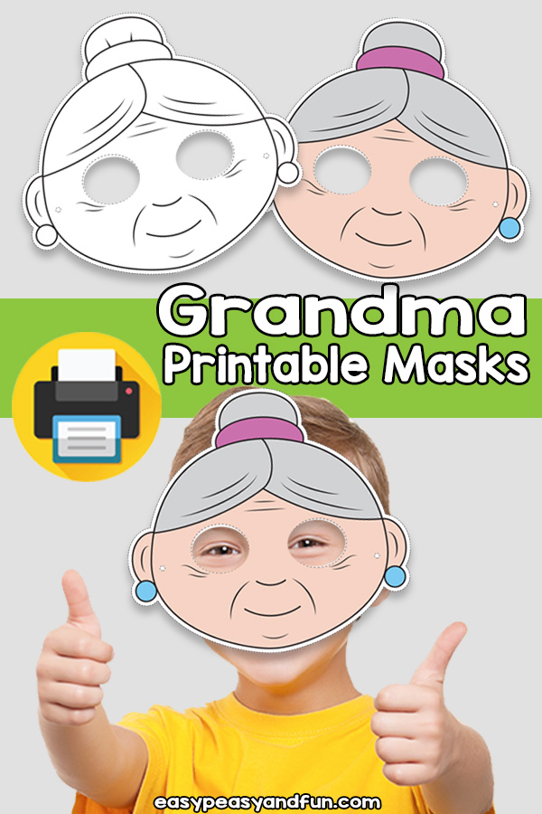 Printable Grandma Mask Template