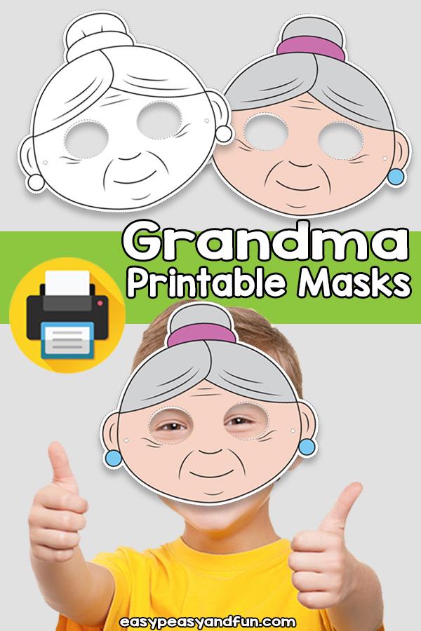 Printable Grandma Mask Template
