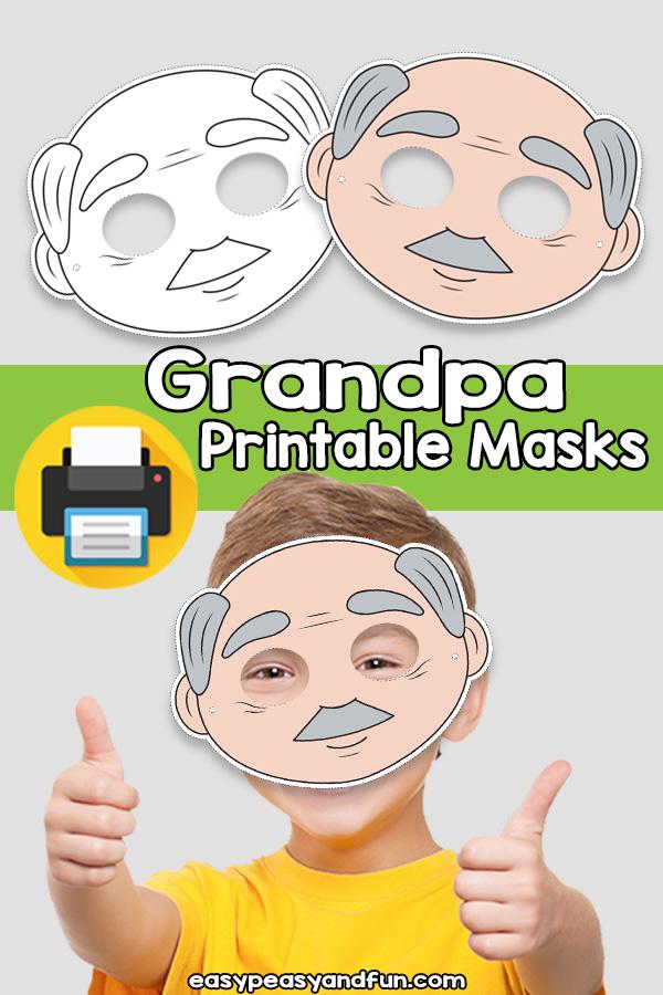 Printable Grandpa Mask Template