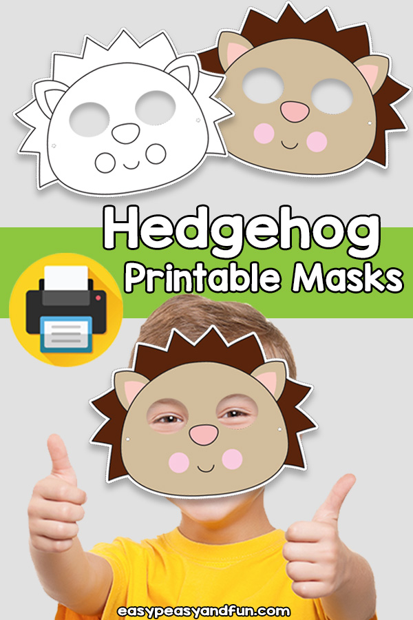 Printable Hedgehog Mask Template