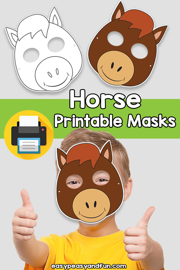 Printable Horse Mask Template