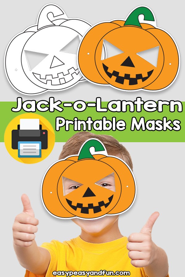 graphic regarding Printable Jack O Lanterns titled Printable Jack-o-Lantern Mask Template Simple Peasy and Pleasurable