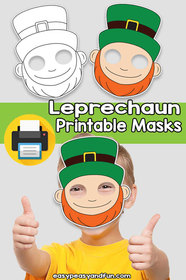 Printable Leprechaun Mask Template