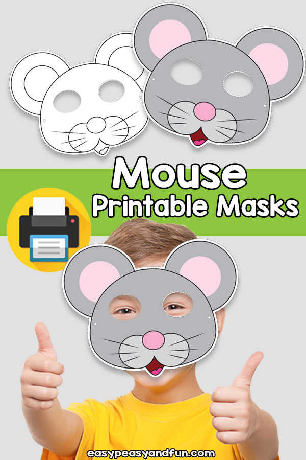 Printable Mouse Mask Template