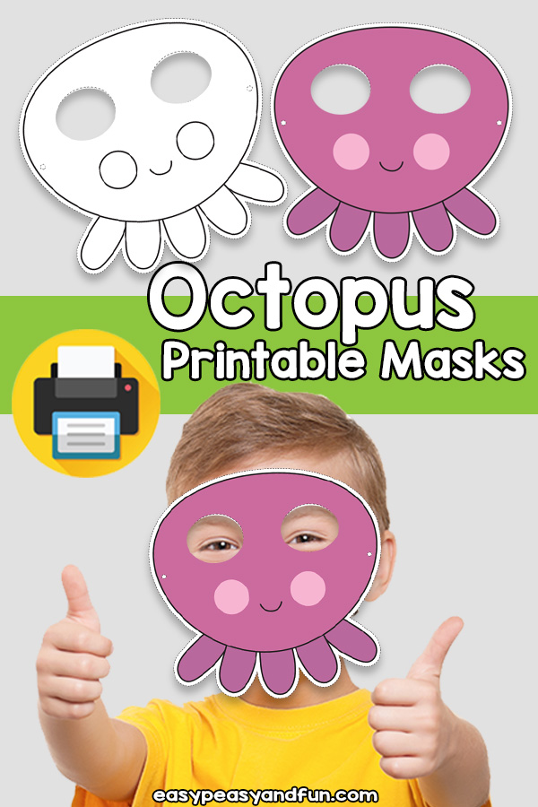 Printable Octopus Mask Template
