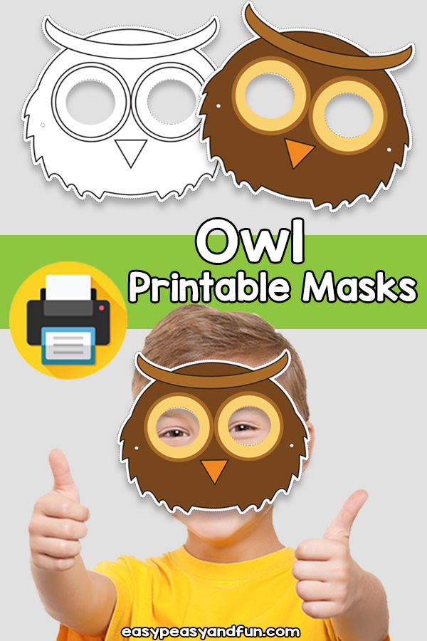 Printable Owl Mask Template
