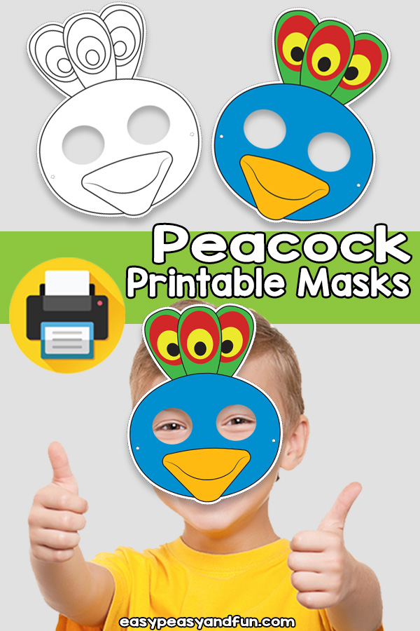 Printable Peacock Mask Template