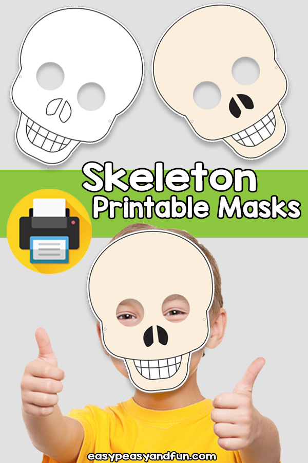 Printable Skeleton Mask Template