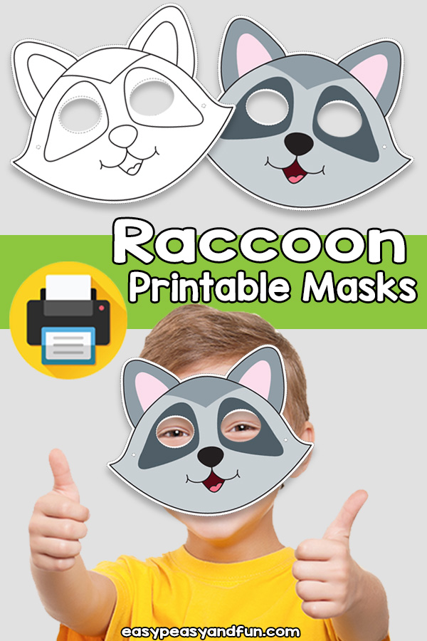 Printable Raccoon Mask Template