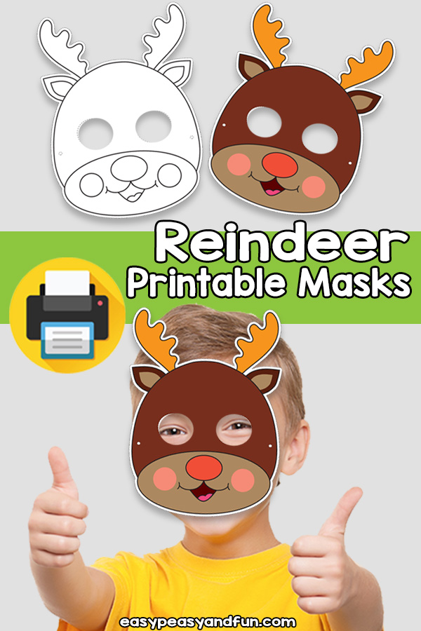 Printable Reindeer Mask Template