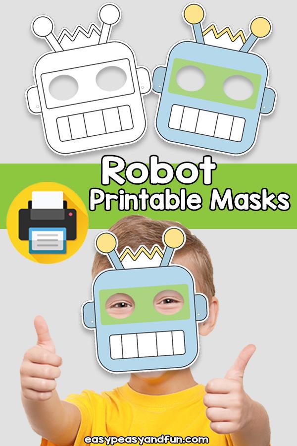 Printable Robot Mask Template