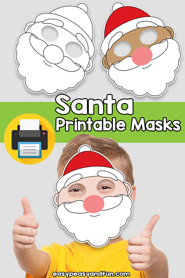 Printable Santa Claus Mask Template