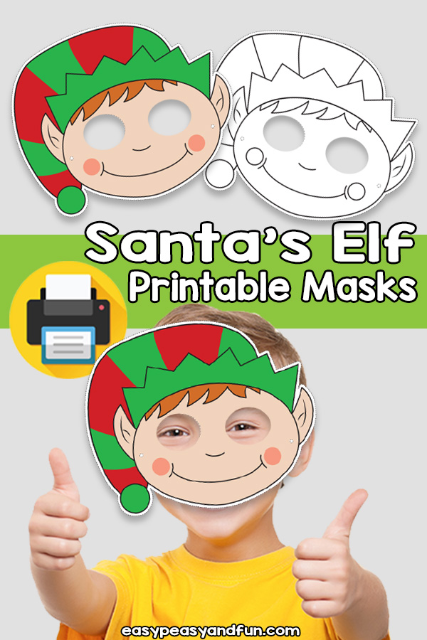 Printable Santa's Elf Mask Template