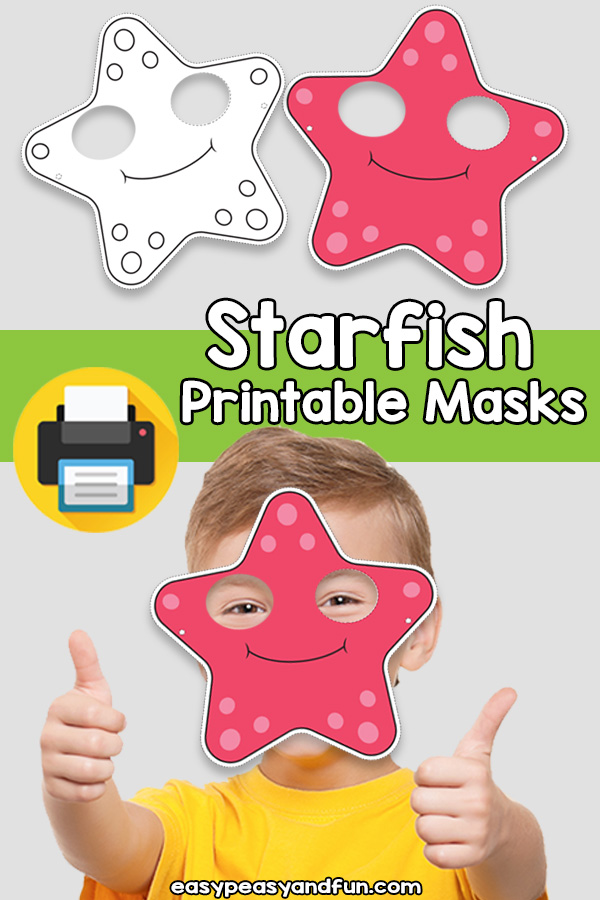 Printable Starfish Mask Template