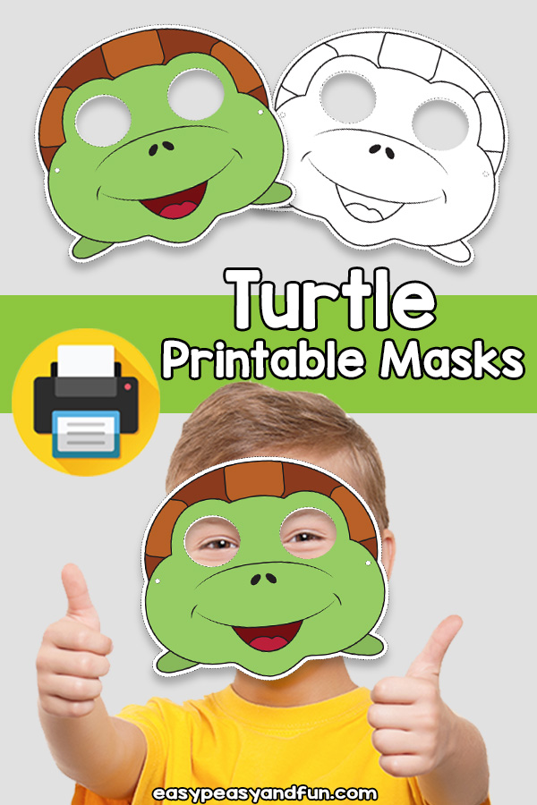 Printable Turtle Mask Template