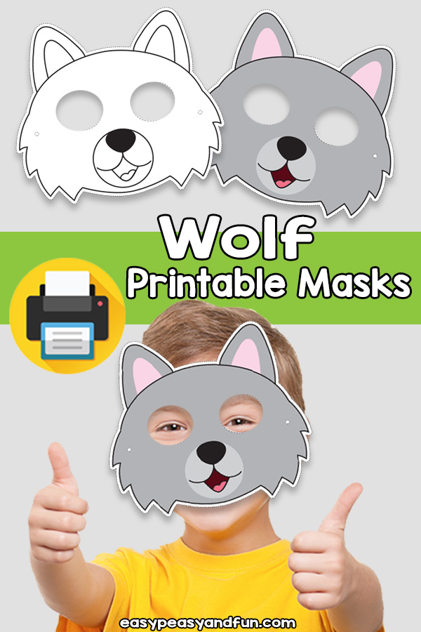 Printable Wolf Mask Template