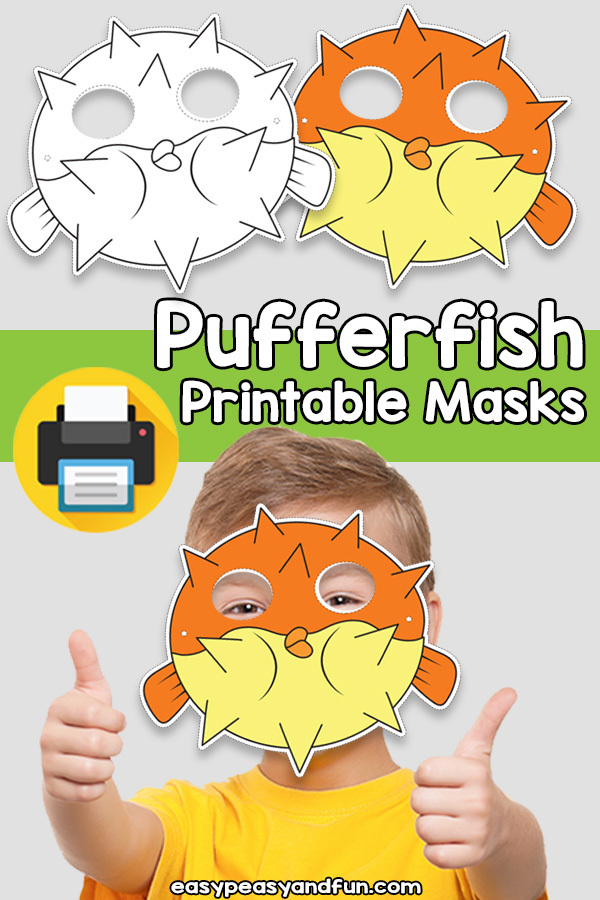 Pufferfish Printable Mask Template