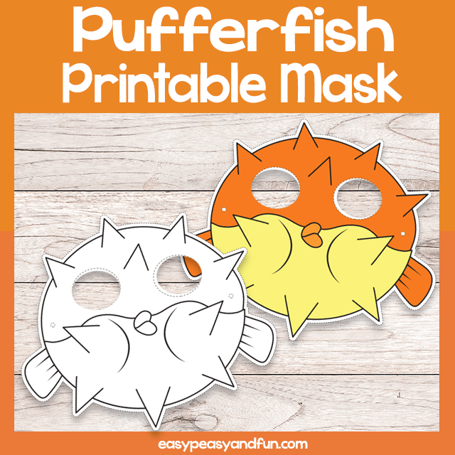 Pufferfish printable mask