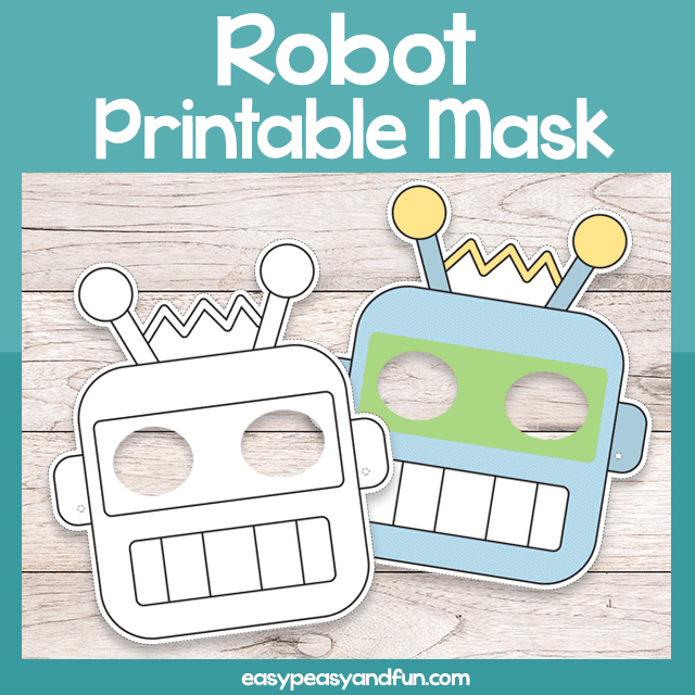 photograph relating to Robot Printable named Printable Robotic Mask Template Simple Peasy and Enjoyment Subscription