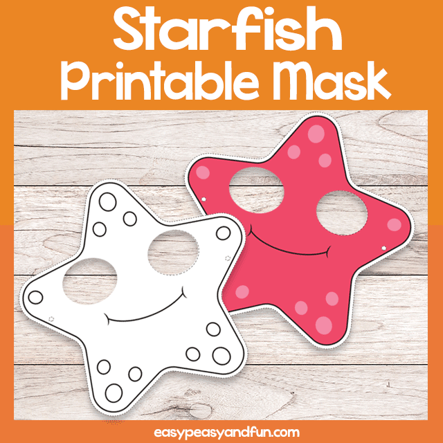 photo about Starfish Printable known as Printable Starfish Mask Template Very simple Peasy and Enjoyment Subscription