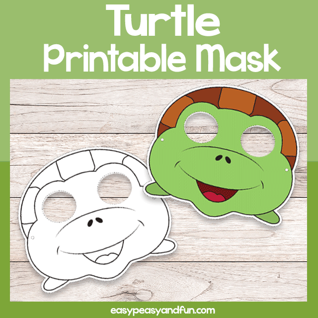 photo relating to Turtle Template Printable known as Printable Turtle Mask Template Very simple Peasy and Exciting Subscription