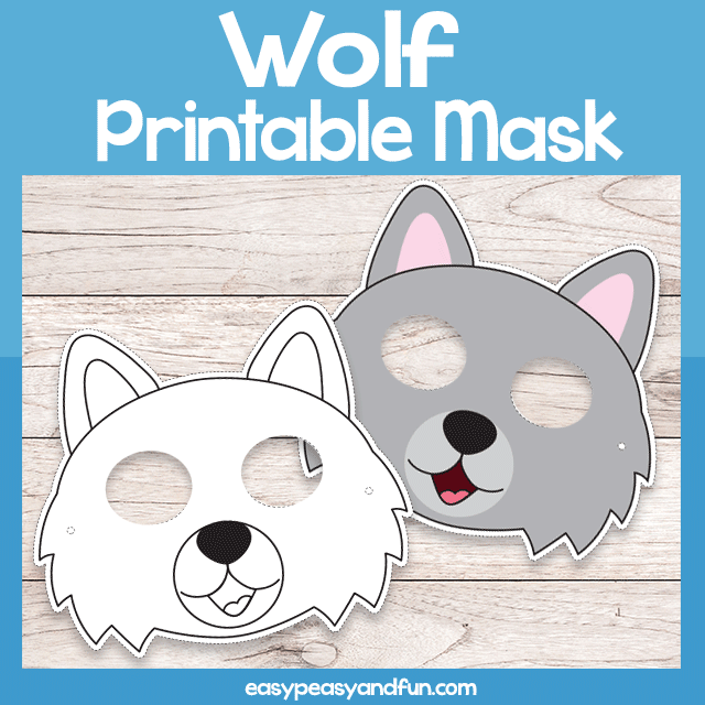 graphic relating to Printable Wolf Mask Template for Kids known as Printable Wolf Mask Template Basic Peasy and Exciting Subscription