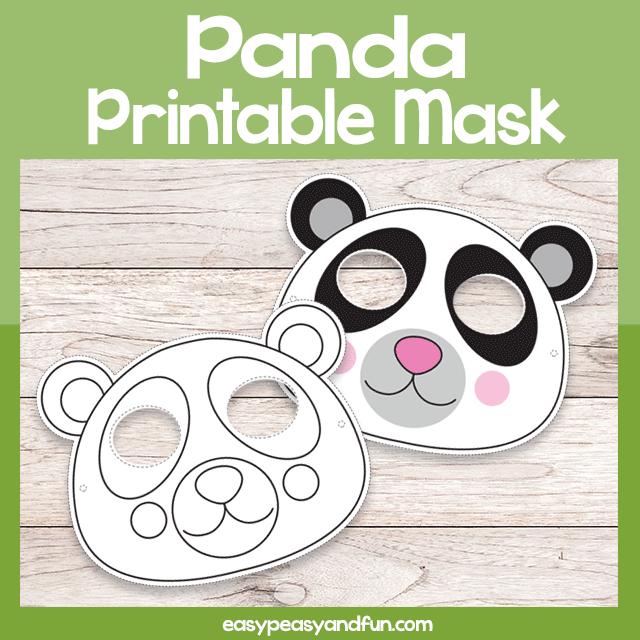 Panda Printable Mask
