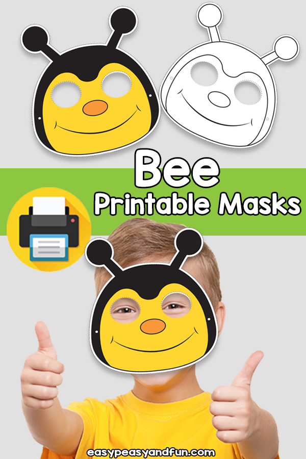Printable Bee Mask Template