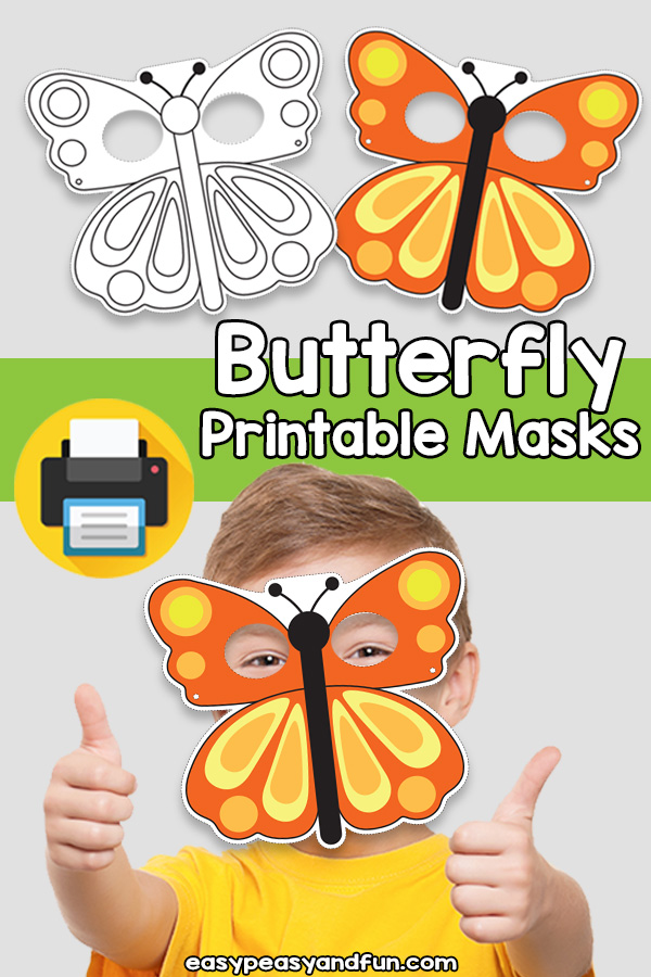 Printable Butterfly Mask Template