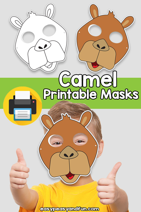 Printable Camel Mask Template