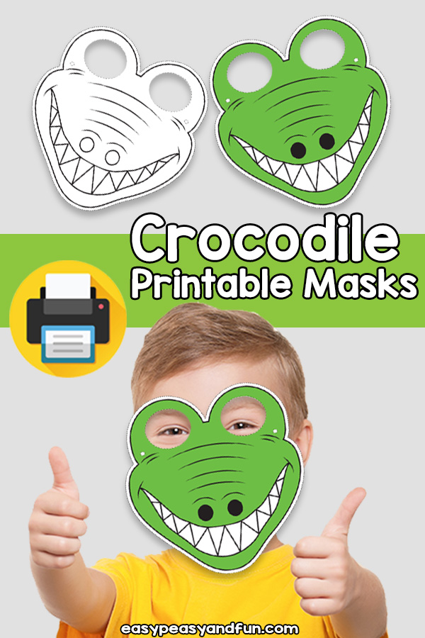 Printable Crocodile Mask Template