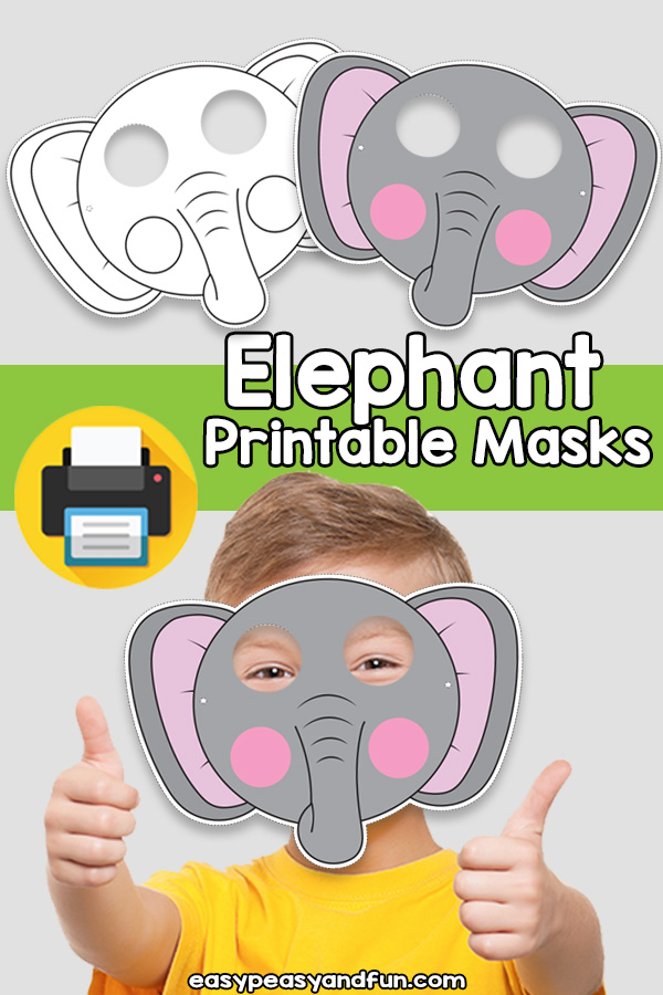 Printable Elephant Mask Template