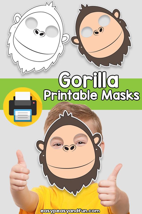 Printable Gorilla Mask Template