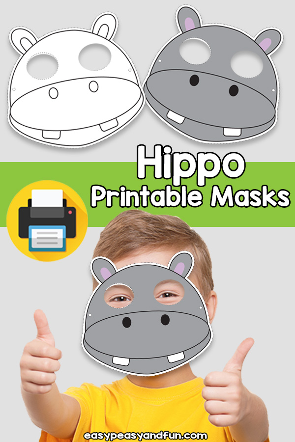 Printable Hippo Mask Template