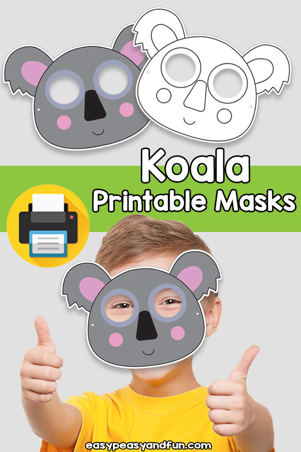 Printable Koala Mask Template