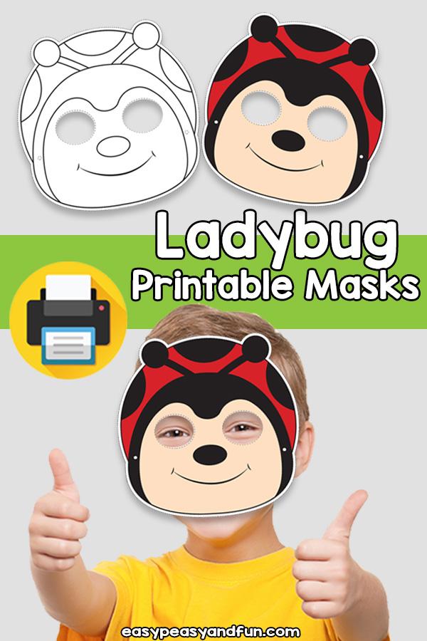 Printable Ladybug Mask Template