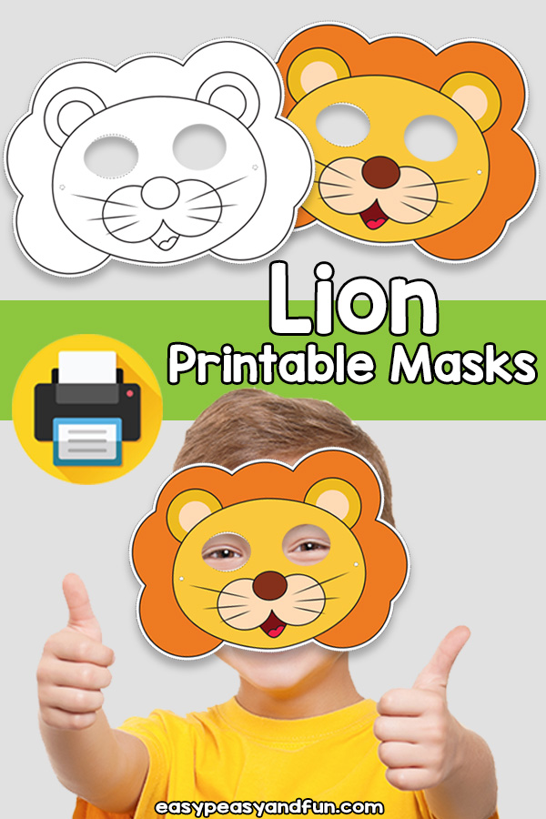 Printable Lion Mask Template