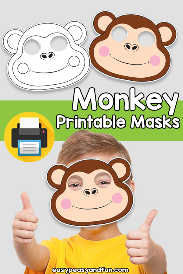 Printable Monkey Mask Template