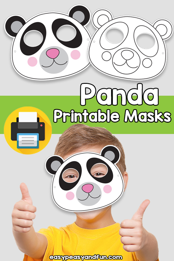 Printable Panda Mask Template