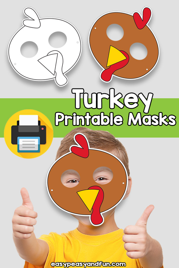 Printable Turkey Mask Template