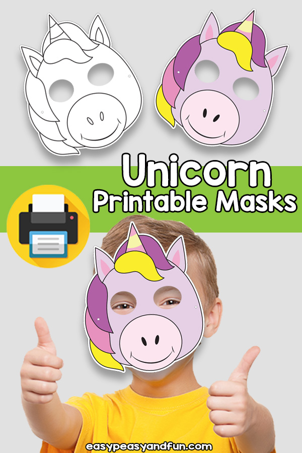 Printable Unicorn Mask Template