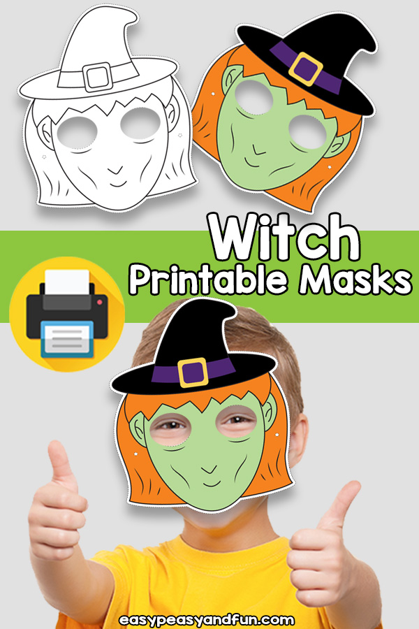 Printable Witch Mask Template