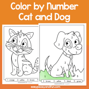 Cat and Dog Color by Number