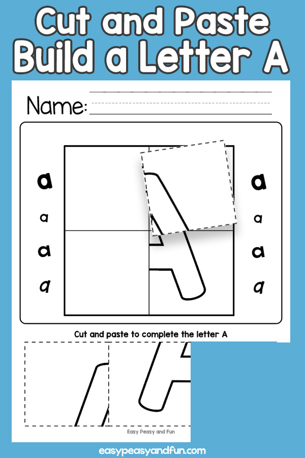 Cut and Paste Letter A Worksheets