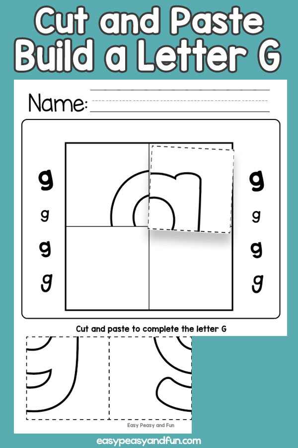 Cut and Paste Letter G Worksheets