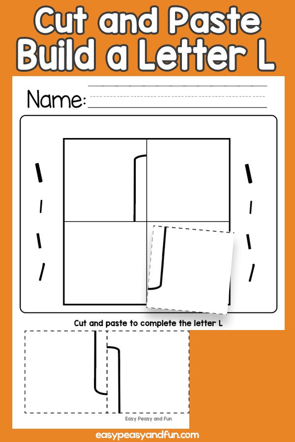 Cut and Paste Letter L Worksheets
