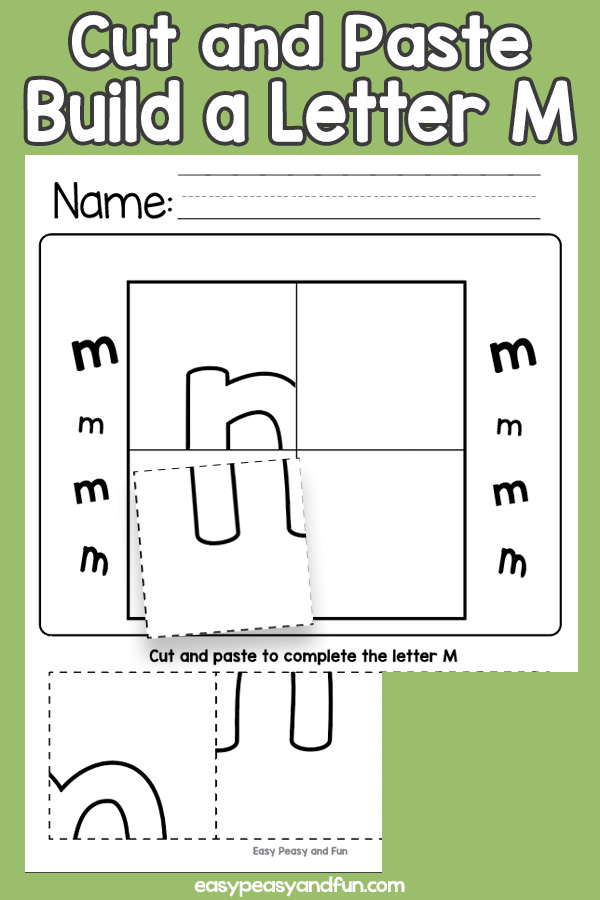 Cut and Paste Letter M Worksheets
